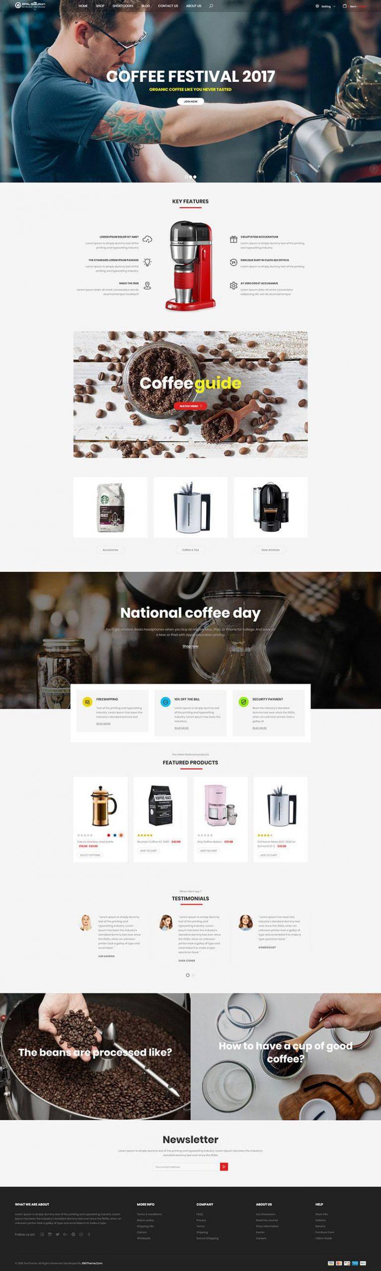 Giao diện website ẩm thực Hadona