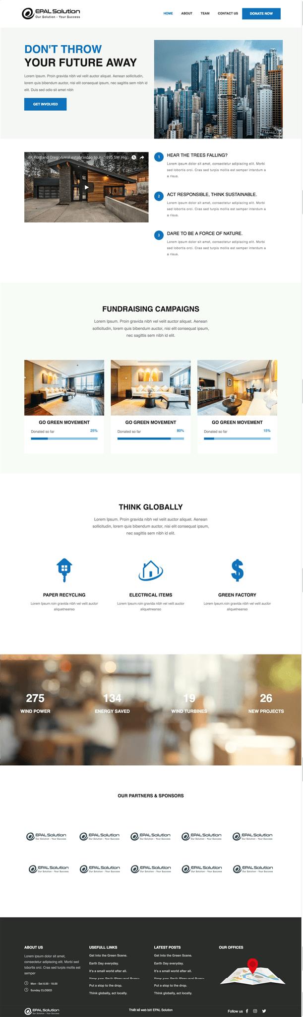 Giao diện website doanh nghiệpBất Động Sản