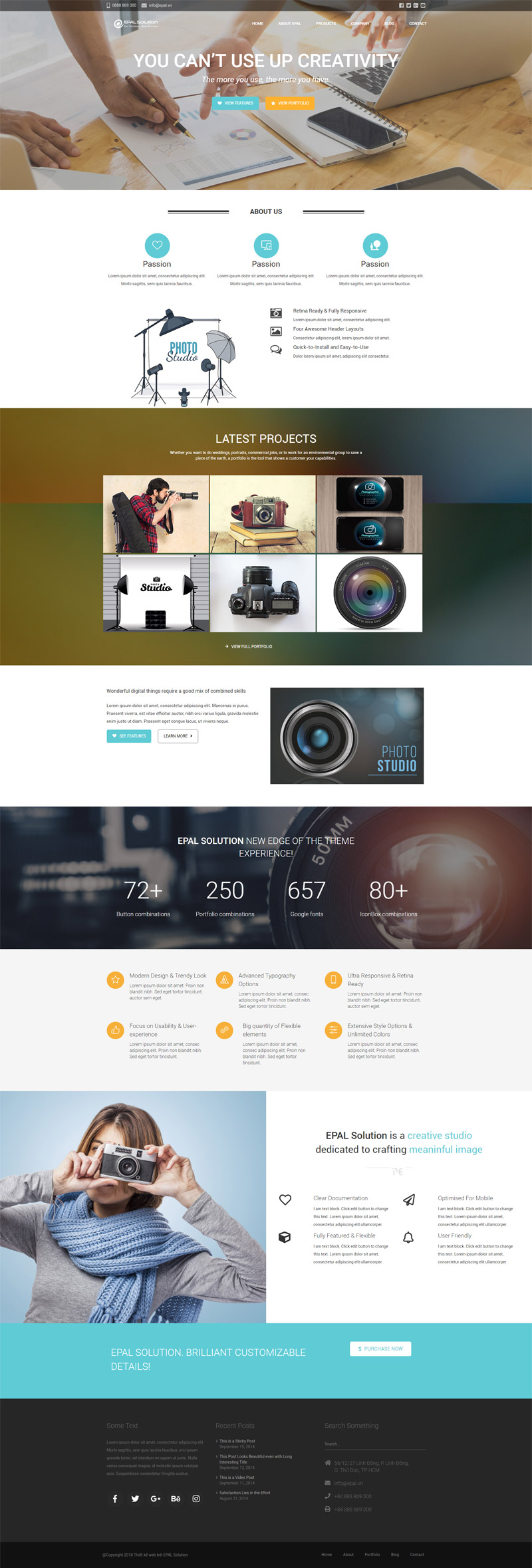 Giao Diện Website Doanh Nghiệp Studio