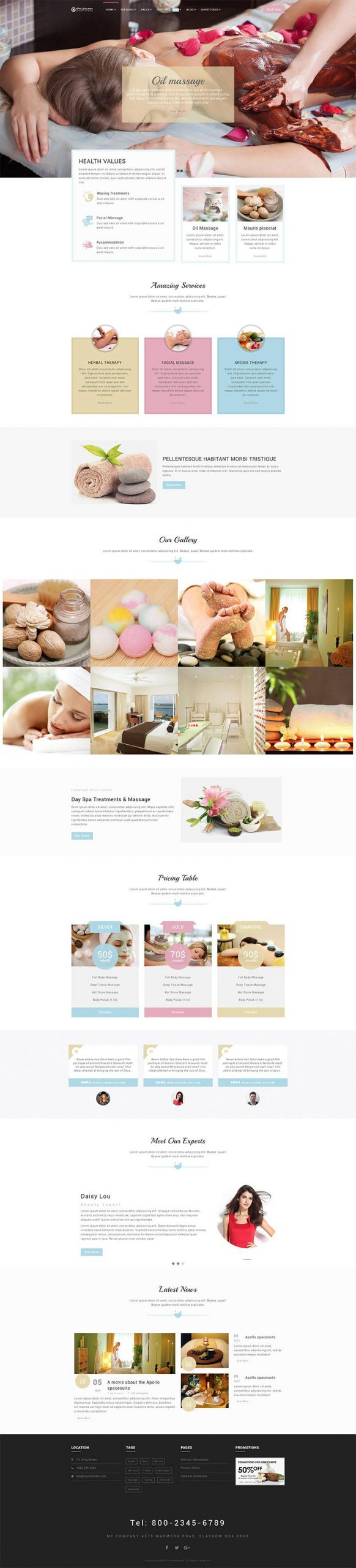 Giao diện website Royal SPA