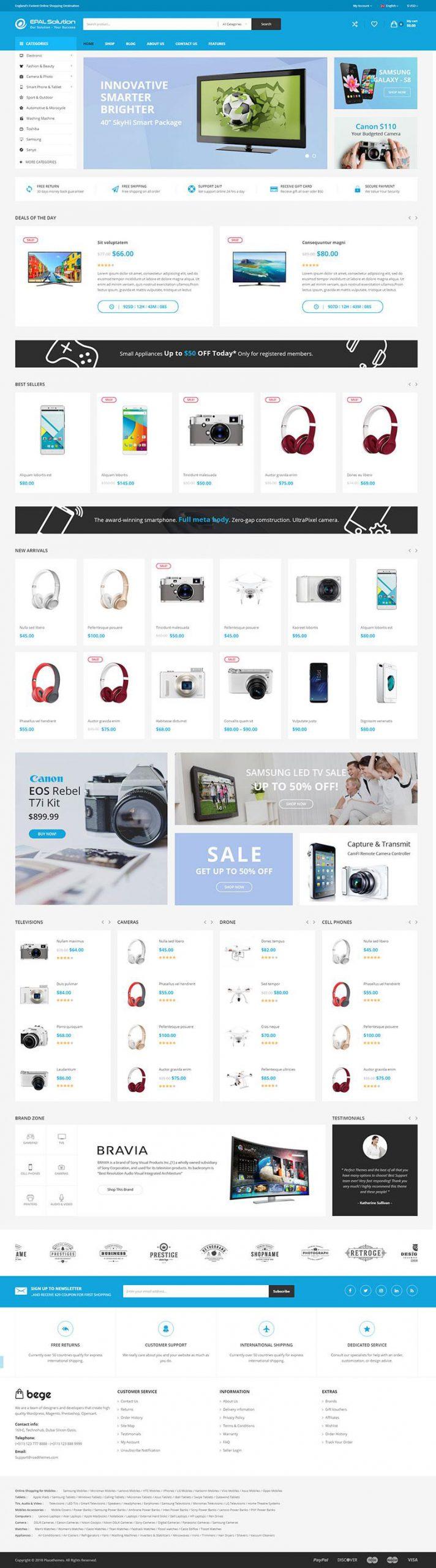 Giao diện website thương mại điện tử Bege
