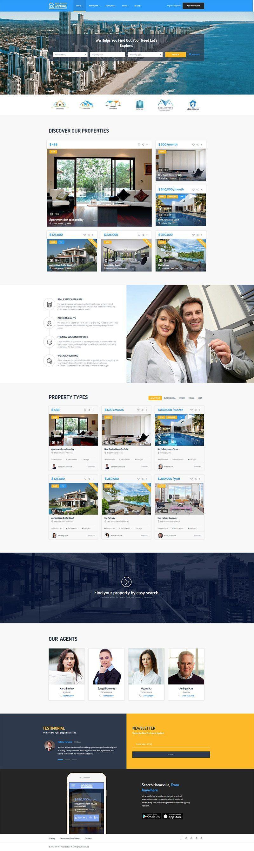 Giao diện website bất động sản ApusHome
