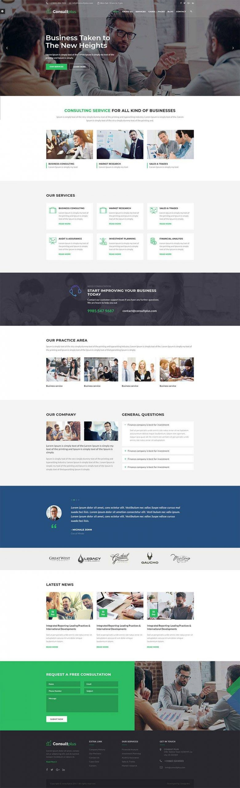 Giao diện website doanh nghiệp Consultplus
