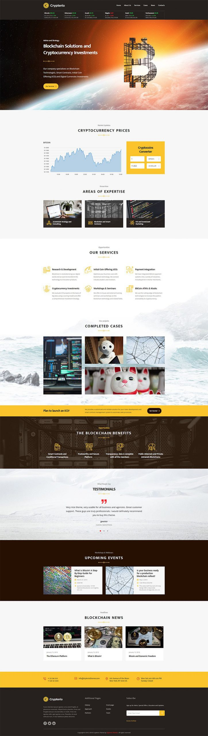 Giao diện website doanh nghiệp Crypterio