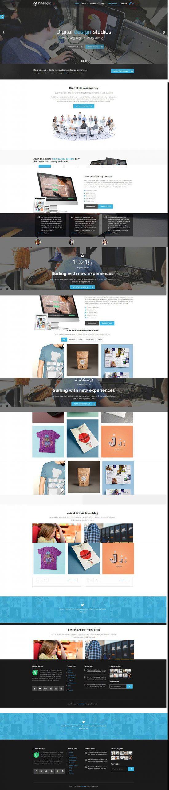 Giao diện website doanh nghiệp Sallira