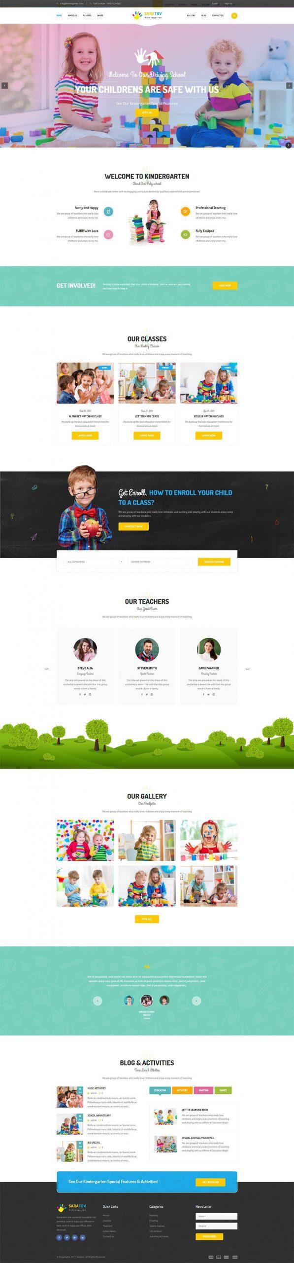 Giao Diện Website Giáo Dục Saratov